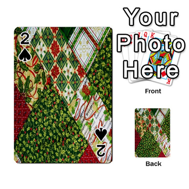 Christmas Quilt Background Playing Cards 54 Designs