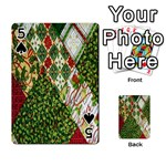 Christmas Quilt Background Playing Cards 54 Designs  Front - Spade5