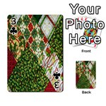 Christmas Quilt Background Playing Cards 54 Designs  Front - Club3