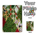Christmas Quilt Background Playing Cards 54 Designs  Front - Club7
