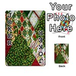 Christmas Quilt Background Playing Cards 54 Designs  Front - Joker1