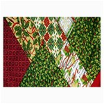 Christmas Quilt Background Collage Prints 18 x12 Print - 3