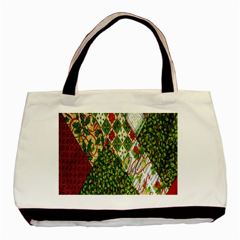 Christmas Quilt Background Basic Tote Bag