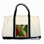 Christmas Quilt Background Two Tone Tote Bag Front