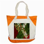 Christmas Quilt Background Accent Tote Bag Front