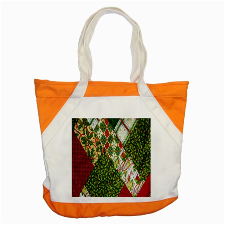 Christmas Quilt Background Accent Tote Bag