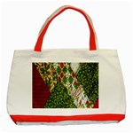 Christmas Quilt Background Classic Tote Bag (Red) Front