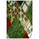 Christmas Quilt Background Canvas 12  x 18   18 x12 Canvas - 1