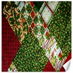 Christmas Quilt Background Canvas 16  x 16   16 x16 Canvas - 1