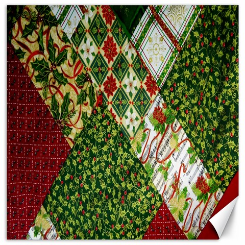 Christmas Quilt Background Canvas 20  x 20