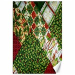 Christmas Quilt Background Canvas 20  x 30   30 x20 Canvas - 1
