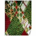 Christmas Quilt Background Canvas 36  x 48   48 x36 Canvas - 1