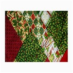 Christmas Quilt Background Small Glasses Cloth (2-Side) Front