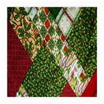 Christmas Quilt Background Medium Glasses Cloth (2-Side) Front