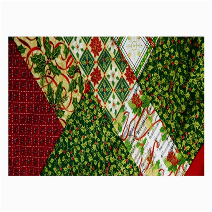 Christmas Quilt Background Large Glasses Cloth (2-Side)