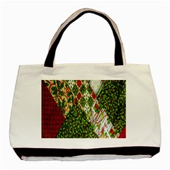 Christmas Quilt Background Basic Tote Bag (Two Sides)