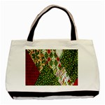 Christmas Quilt Background Basic Tote Bag (Two Sides) Back