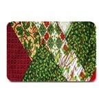 Christmas Quilt Background Plate Mats 18 x12 Plate Mat - 1