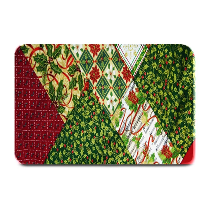Christmas Quilt Background Plate Mats