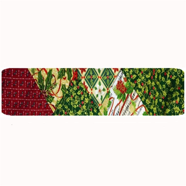 Christmas Quilt Background Large Bar Mats