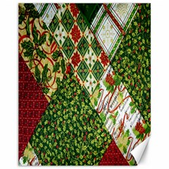 Christmas Quilt Background Canvas 11  x 14