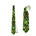 Christmas Quilt Background Neckties (One Side)  Front