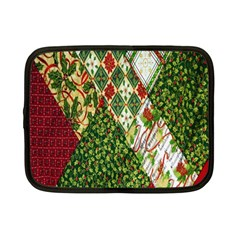 Christmas Quilt Background Netbook Case (Small)