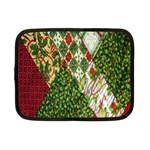 Christmas Quilt Background Netbook Case (Small)  Front