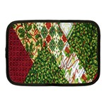Christmas Quilt Background Netbook Case (Medium)  Front