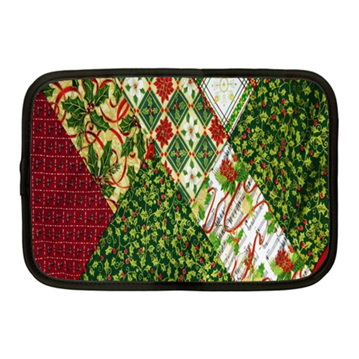 Christmas Quilt Background Netbook Case (Medium)