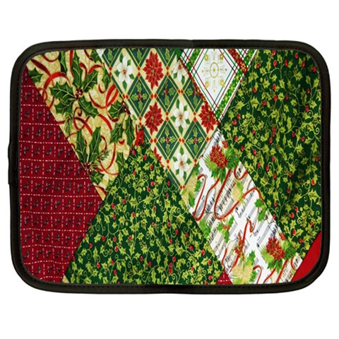 Christmas Quilt Background Netbook Case (Large)
