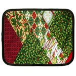 Christmas Quilt Background Netbook Case (Large) Front