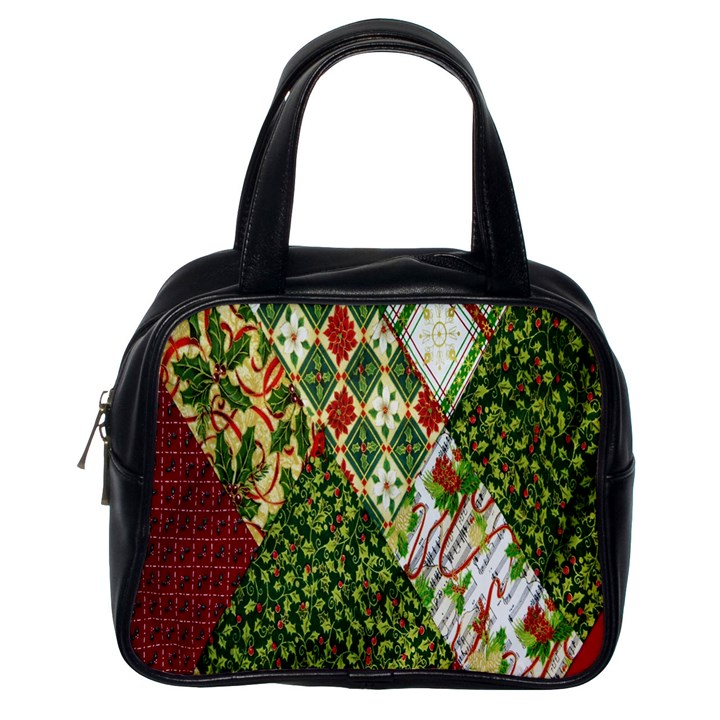 Christmas Quilt Background Classic Handbags (One Side)