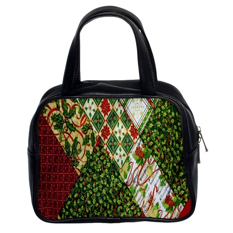 Christmas Quilt Background Classic Handbags (2 Sides)