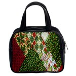 Christmas Quilt Background Classic Handbags (2 Sides) Front