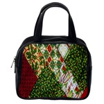 Christmas Quilt Background Classic Handbags (2 Sides) Back