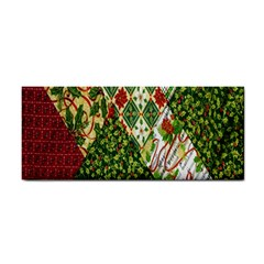 Christmas Quilt Background Hand Towel