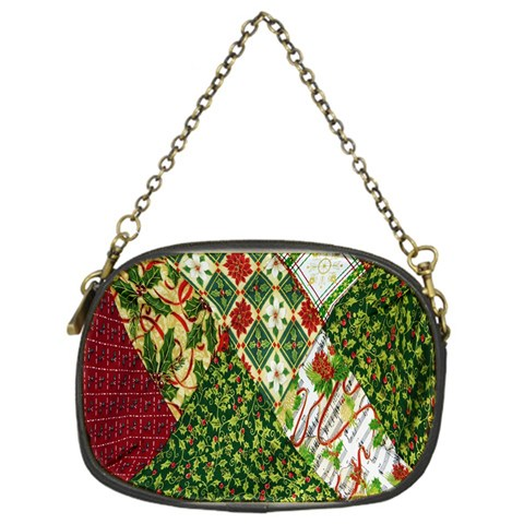 Christmas Quilt Background Chain Purses (One Side)