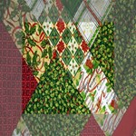 Christmas Quilt Background Mini Canvas 4  x 4  4  x 4  x 0.875  Stretched Canvas