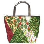 Christmas Quilt Background Bucket Bags Front