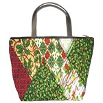 Christmas Quilt Background Bucket Bags Back