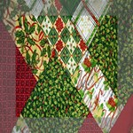 Christmas Quilt Background Mini Canvas 6  x 6  6  x 6  x 0.875  Stretched Canvas