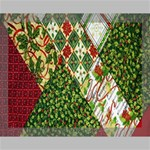 Christmas Quilt Background Canvas 14  x 11  14  x 11  x 0.875  Stretched Canvas