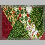 Christmas Quilt Background Canvas 16  x 12  16  x 12  x 0.875  Stretched Canvas