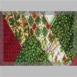 Christmas Quilt Background Canvas 18  x 12  18  x 12  x 0.875  Stretched Canvas