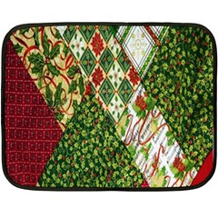 Christmas Quilt Background Double Sided Fleece Blanket (Mini)