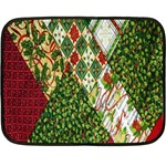 Christmas Quilt Background Double Sided Fleece Blanket (Mini)  35 x27 Blanket Front