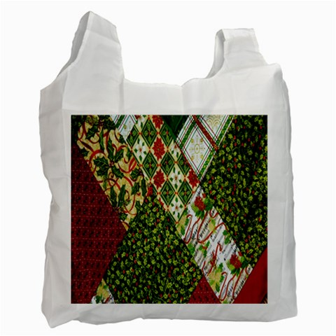 Christmas Quilt Background Recycle Bag (One Side)
