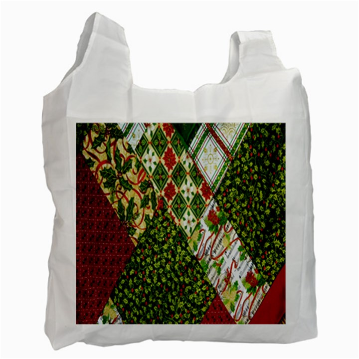 Christmas Quilt Background Recycle Bag (Two Side)