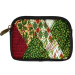 Christmas Quilt Background Digital Camera Cases Front